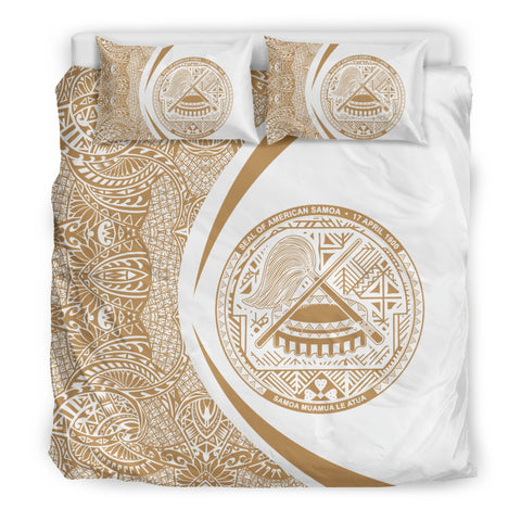 American Samoa Coat Of Arms Polynesian Bedding Set - Circle Style 05 J9