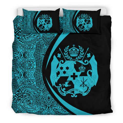 Image of Tonga Coat Of Arms Polynesian Bedding Set - Circle Style 04 J9