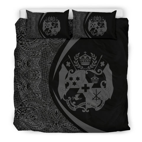 Image of Tonga Coat Of Arms Polynesian Bedding Set - Circle Style 05 J9