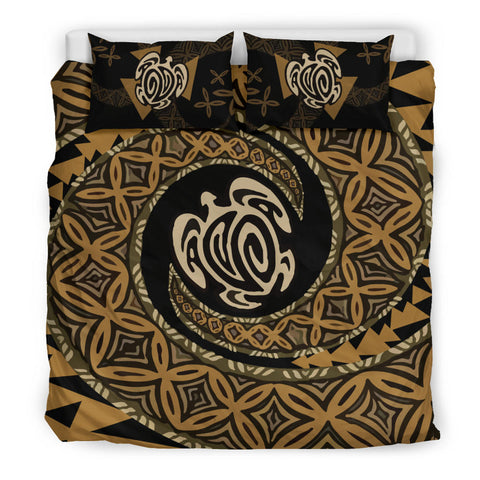 Image of Tapa Honu Turtle Fiji Bedding Set - King