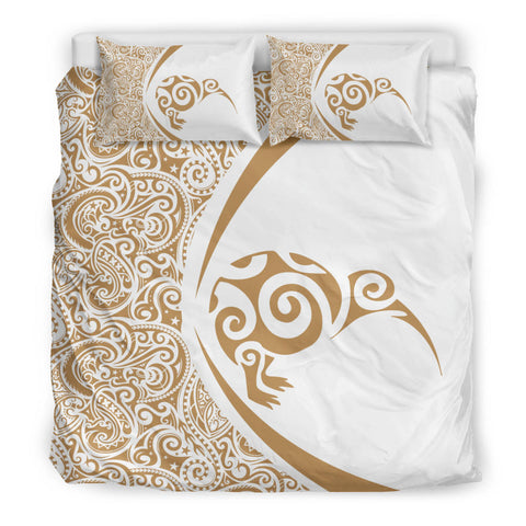 New Zealand Kiwibird Maori Bedding Set - Circle Style J9