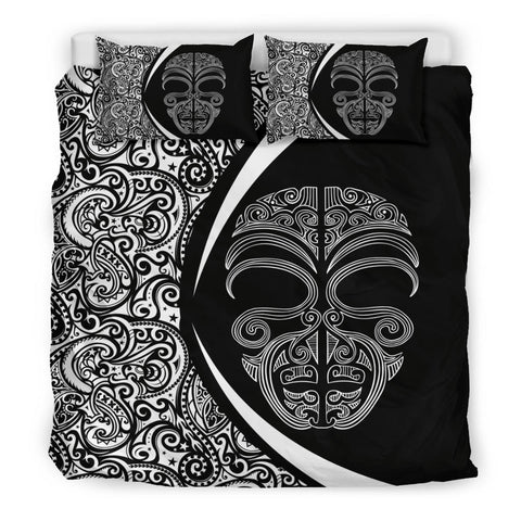 New Zealand Face Maori Bedding Set - Circle Style J9