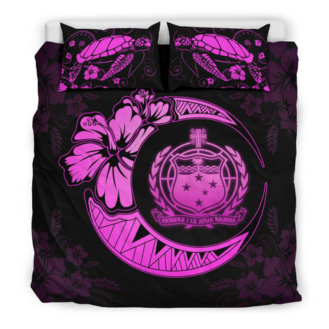 Samoa Moon Polynesian Bedding Set Pink - J1