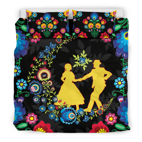 Image of Poland Bedding Set Dancing With The Moon 2