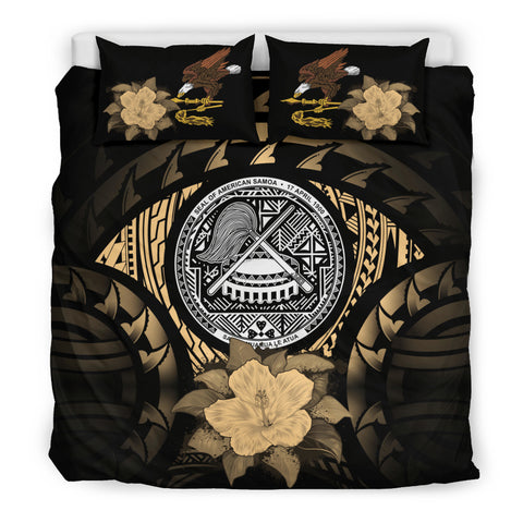 American Samoa Gold Hibiscus Bedding Set A02