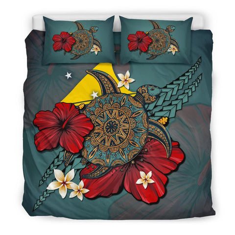 Tokelau Bedding Set - Blue Turtle Tribal A02