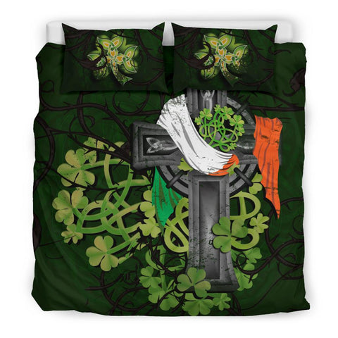 Irish Bedding Set Shamrock Celtic Cross | High Quality | Love The World