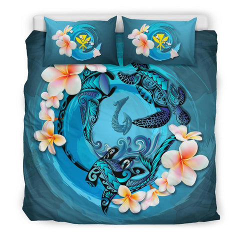 Hawaii Bedding Set - Blue Plumeria Animal Tattoo | Love The World