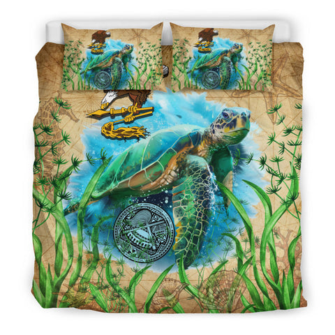 American Samoa Bedding Set Sea Turtle Vintage K4