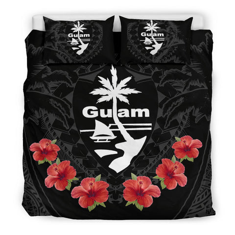Image of Polynesian Tattoo Guam Seal Bedding Set Hibiscus K5