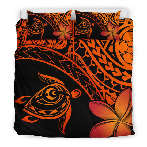 Tahiti Tribal Turtle Plumeria Bedding Set | Home Set