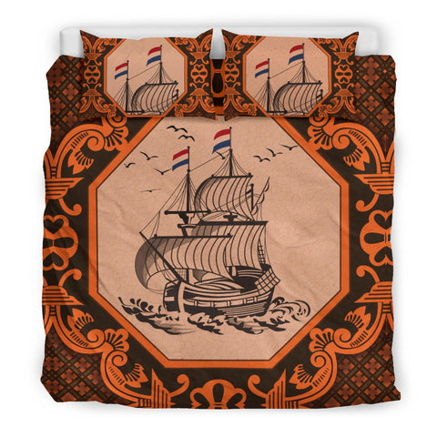 Nederland Bedding Set Orange - Dutch Boat Delft Blue