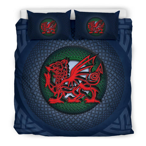 Welsh Bedding Set - Blue Celtic Dragon | Love The World