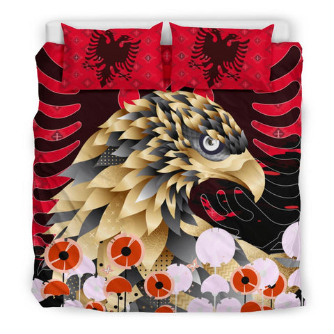 Happy Albania Independence Day Bedding Set - Albania Golden Eagle V3 - BN21