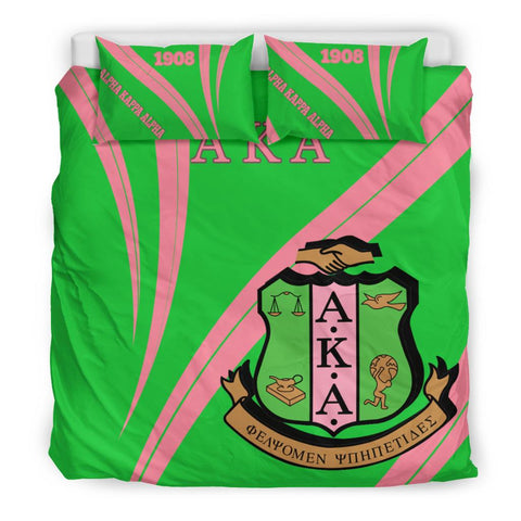 African Bedding Set - Proud to be Alpha Kappa Alpha