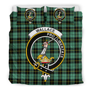 Wallace Hunting Ancient Clan Badge Tartan Bedding Set K5