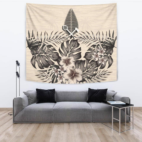 Image of (Alo) Wallis and Futuna Tapestry - The Beige Hibiscus A7