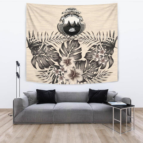 Image of Costa Rica Tapestry - The Beige Hibiscus A7