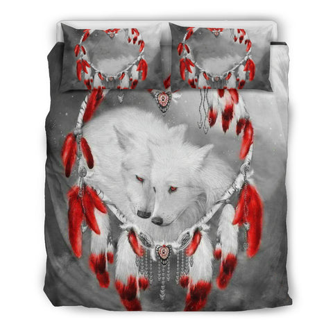 Image of Wolf Dreamcatcher Heart Bedding Set O4