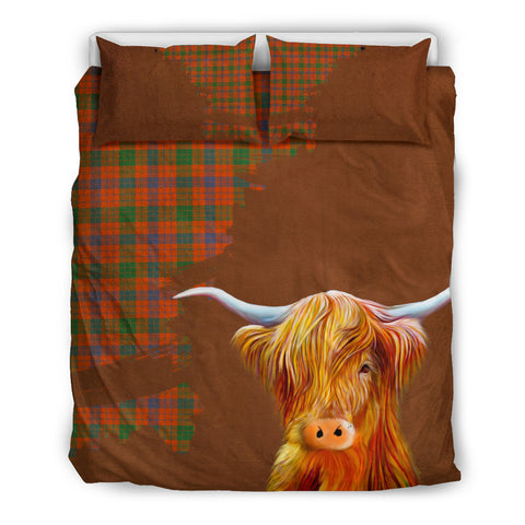 Image of Ross Ancient Tartan Scottish Highland Cow Bedding Set HJ4