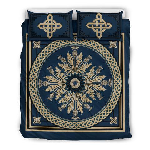 Image of Scotland Thistle With Celtic Bedding Set  Nn8