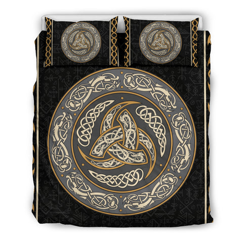 "Click ""ADD TO CART"" to get yours. Free shipping worldwide. Bedding set comes with one duvet and two pillowcases. Comforter, bed sheet and pillow inserts are not include. Viking- Triple Horns of Odin Bedding Set."