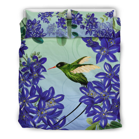 Jamaica Bedding Set - Jamaican Doctor Bird Lignum Vitae - Queen bedding soft - Twin bedding - queen bedding sets - bedding sets king