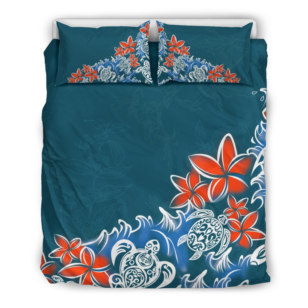 Hawaii turtle and plumeria flower bedding set 1sttheworld turtle and plumeria flower hawaiian bedding set h7 izmirmasajfo