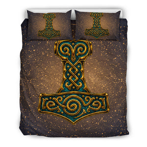Viking Bedding Set - Mjolnir Of Thor A7