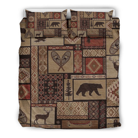 Rustic Pattern Bedding Set 02 - BN08