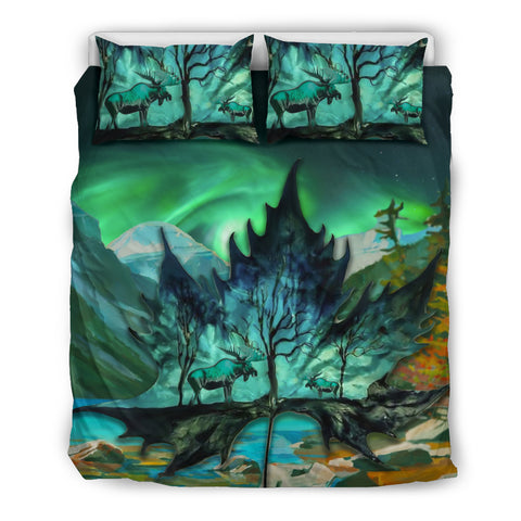 maple leaf, moose, canada, duvet cover, bedding set, bedding sets