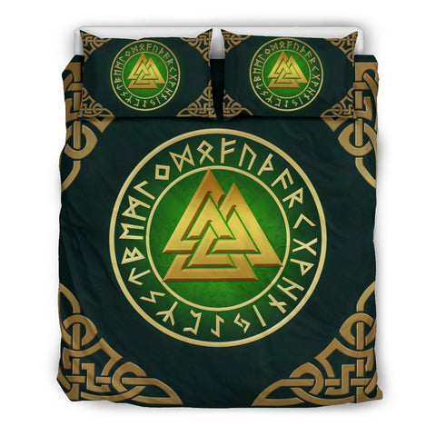 Norse Viking Bedding Set - Viking Valknut 2 H5