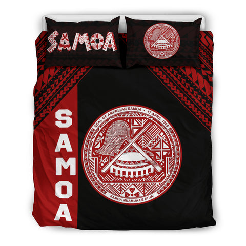 Seal of American Samoa Bedding Set Black