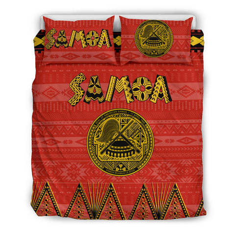Seal of American Samoa Bedding Set Red
