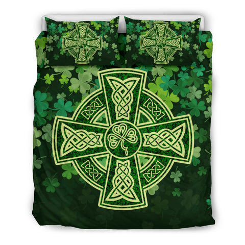 Ireland - Celtic Cross Shamrock Bedding Set | Love The World