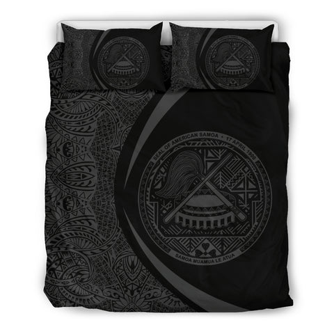 Image of American Samoa Coat Of Arms Polynesian Bedding Set - Circle Style J9