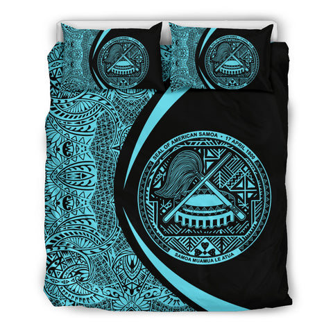 American Samoa Coat Of Arms Polynesian Bedding Set - Circle Style 02 J9