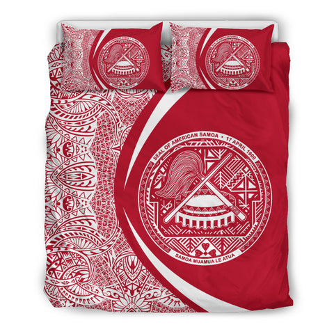 American Samoa Coat Of Arms Polynesian Bedding Set - Circle Style 03 J9