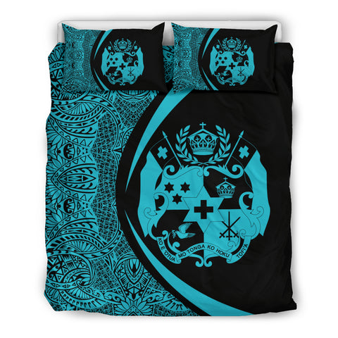 Tonga Coat Of Arms Polynesian Bedding Set - Circle Style 04 J9