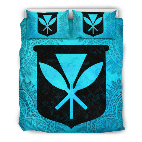 Hawaiian Bedding Set - Turquoise Kanaka Maoli | Love The World