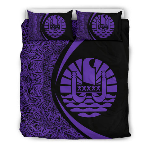 Image of Prench Polynesia Coat Of Arms Bedding Set