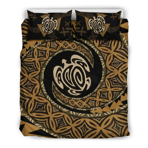 Image of Tapa Honu Turtle Fiji Bedding Set