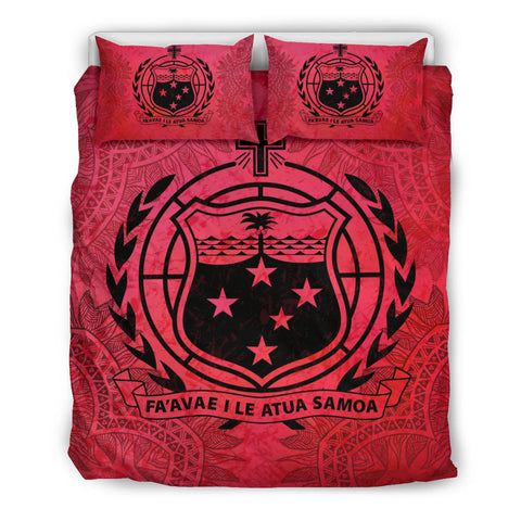 Image of Samoa Red Bedding Set A0