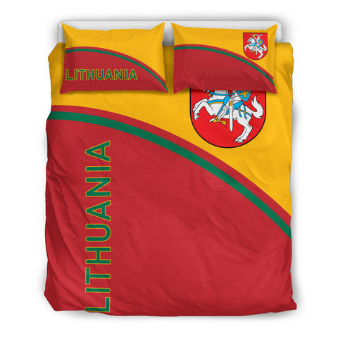 Image of Lithuania Bedding Set - Curve Version queen