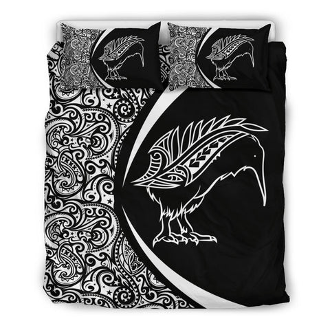 New Zealand Kiwibird Silver Fern Maori Bedding Set - Circle Style
