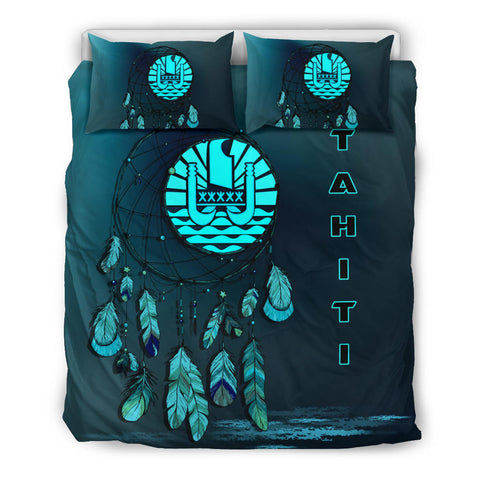 Image of Tahiti Dreamcatcher Blue Bedding Set | Home Set | Love The World