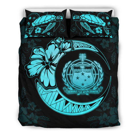 Samoa Polynesian Bedding Set Blue