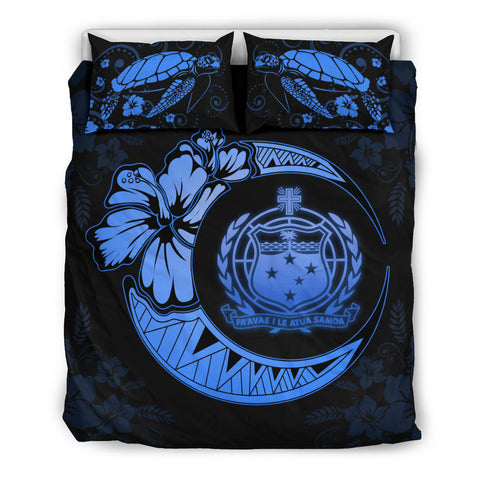 Samoa Polynesian Bedding Set Deep Blue