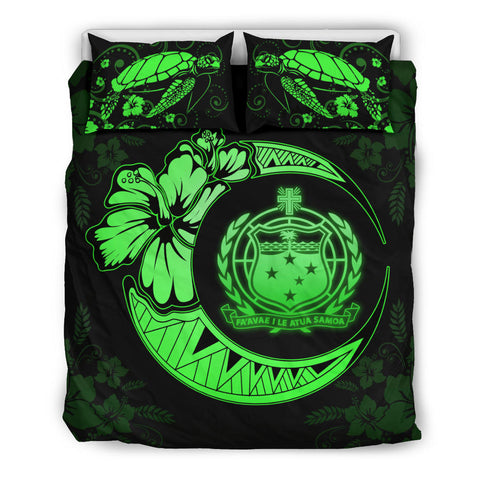 Samoa Polynesian Bedding Set Green