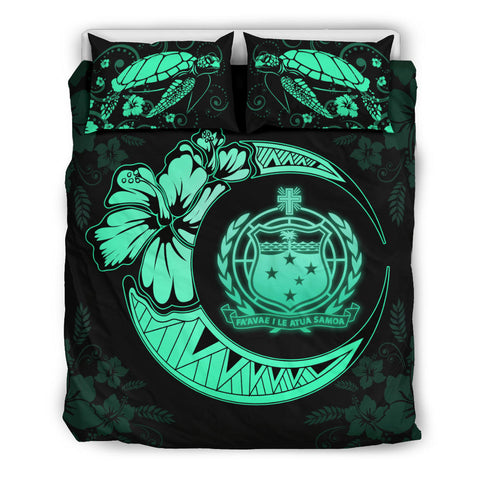 Image of Samoa Polynesian Bedding Set Turquoise